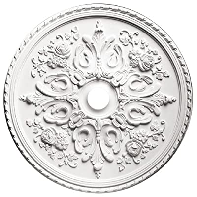 Focal Point 81033 33-Inch Versailles Medallion 32 1/2-Inch by 32 1/2-Inch by 2 1/2-Inch, Primed White