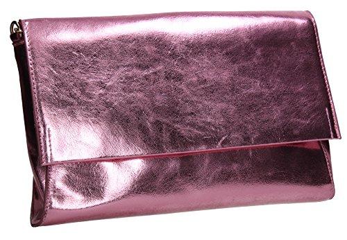 Ladies Pink Wedding Clutch Bag Evening Out Prom SWANKYSWANS Purse Jenna Party Night Celebrity Flapover BwxOa68pqT
