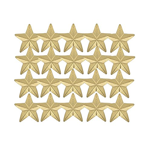 (Awards and Gifts R Us 7/8 Inch Large Star Chenille Pin Gold - Package of 20, Poly)