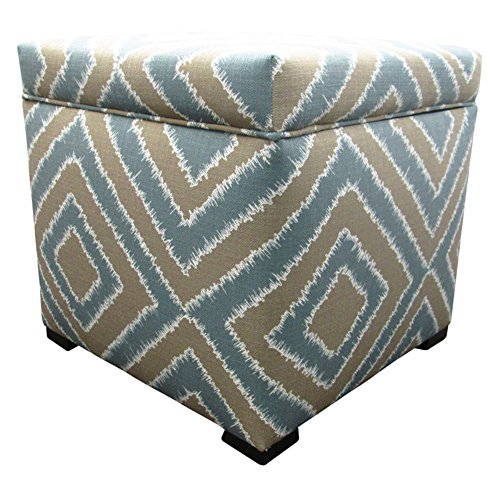 Capri Ottoman - Sole Designs Nouveau Series Tami Collection Capri Finish Upholstered Ottoman with Storage and Lift Top