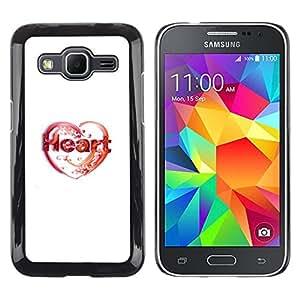 Caucho caso de Shell duro de la cubierta de accesorios de protección BY RAYDREAMMM - Samsung Galaxy Core Prime - Amor de corazón
