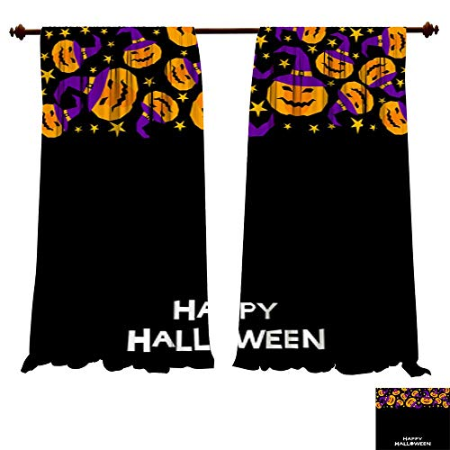 DragonBuildingMaterials Blackout Curtain Panels Happy Halloween Card Template Picture Print