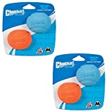 Chuckit! Dog Fetch Toy Fetch Ball Durable Rubber Fits Launcher Medium 4 Balls