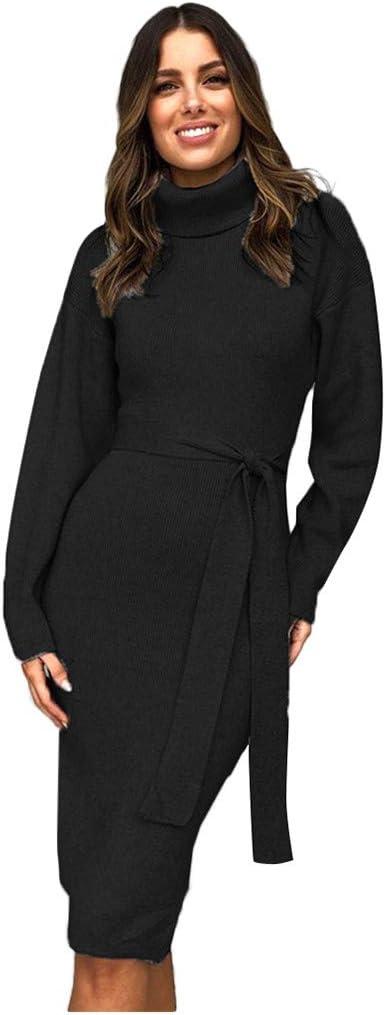 Shenye damska torebka biodra wysoki kołnierz z paskiem sukienka z długim rękawem wysoki dekolt bluza sweter sukienka elegancka suknia z dzianiny tunika sukienka biznesowa bodycon sukienka zimowa biznesowa d
