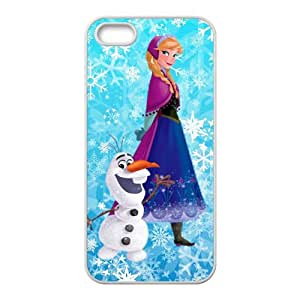Frozen Snowman Olaf and Princess Anna Cell Phone Case for Iphone 5s