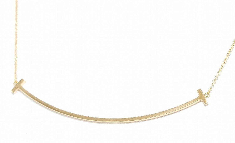 [ティファニー] TIFFANY&Co. T スマイル ネックレス ペンダント K18PG 750 PG ピンクゴールド B078T6W15L