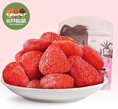 三只松鼠 中国名物 おつまみ 大人気 草莓干 蜜饯果干 果脯 休闲零食 水果干 106g/袋