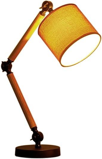 Lampe De Table Europe Du Nord Woody Mécanique Rocker Bras