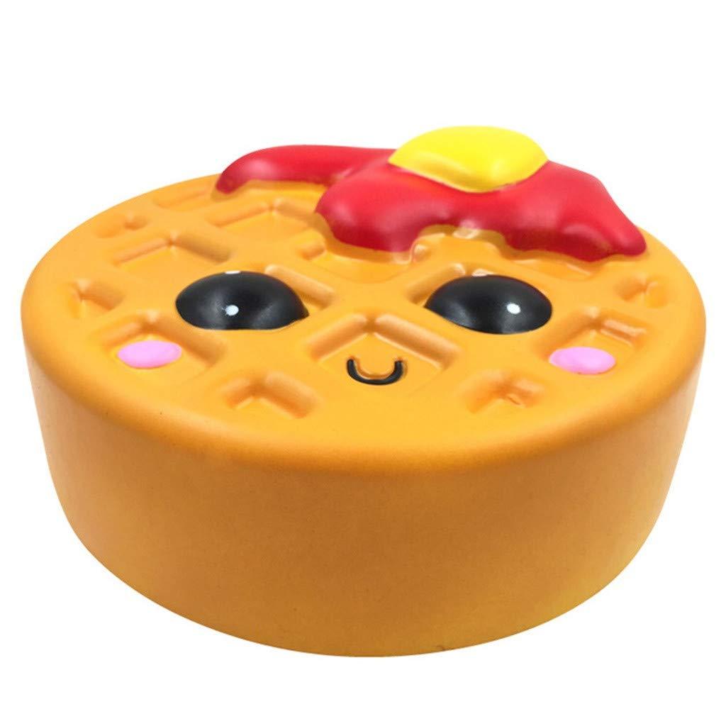 Kawaii Cartoon Jumbo Squishies Toy Slow Rising Cream Scented Stress Reliever Kawaii Cartoon Jumbo Squishies Toy Slow Rising Cream Scented Stress Reliever Preschool Learning Educational Toys Waffle 9.4x9.4x4in Digood Squishy Toys