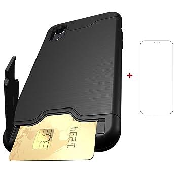 1febd968ec iPhone XR ケース Qi充電対応 カード収納 スタンド 機能 アイフォン XR ケース 耐衝撃 ケース