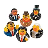Fun Express US President Rubber Ducks - 12 pcs