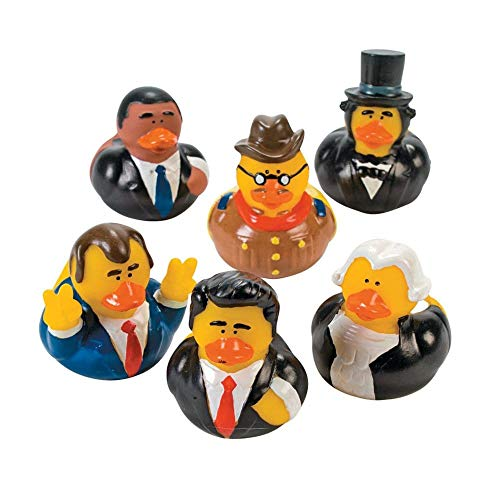 - Fun Express US President Rubber Ducks - 12 pcs