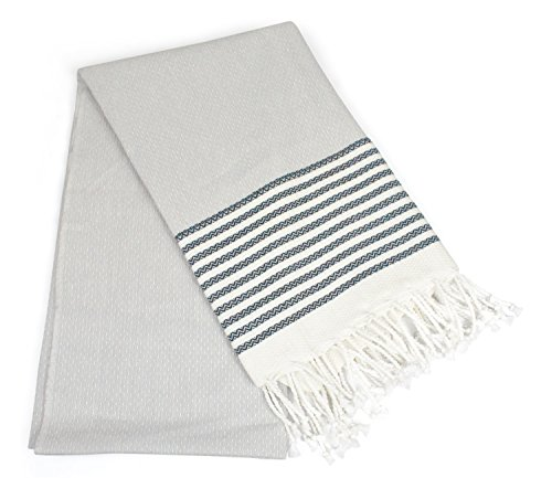 DII Peshtemal Turkish Super Soft, Absorbent, Oversized Bath Towel, Throw, & Blanket Fringe For Chair, Couch, Picnic, Camping, Beach, Yoga, Pilates, & Everyday Use , 39 x 71