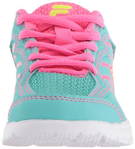 Pictures of Fila Girls' Star Runner Skate Shoe Aruba 3SR21036 Aruba Blue/Knockout Pink/Safety Yellow 6