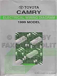 1999 Toyota Camry Electrical Wiring Diagram Repair Manual ...