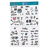 Haushele OFD BTS Self-adhesive Transparent Suitcase Stickers BTS Bulletproof Juvenile Transparent Stickers Luggage Stickers Hand Account Diary Free Stickers