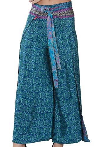 (Wevez Pack of 3 Bohemian Hippie Gypsy Print Casual Wrap Pants (Regular Size))