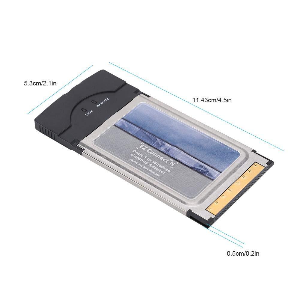 Tangxi Scheda di Rete CardBus//PCMCIA SMC SMCWCB-N2 PCMCIA 300M Laptop Scheda di Rete Wireless Wi-Fi a 2,4 GHz