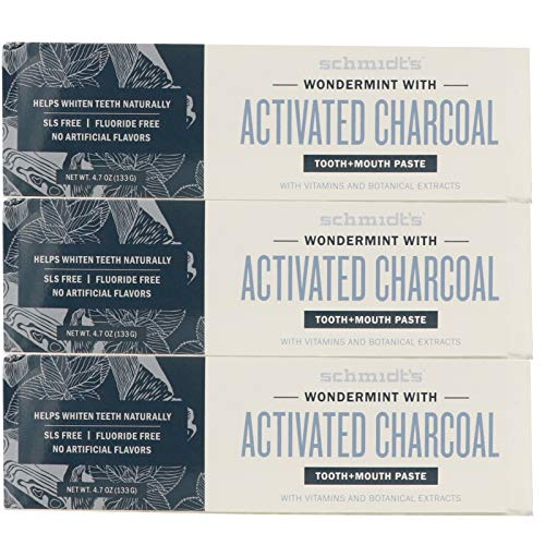 Schmidt's Wondermint with Activated Charcoal Toothpaste, 4.70 oz / 3pk