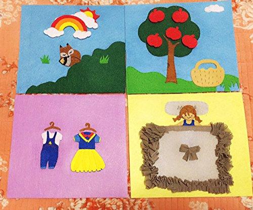 TFENG - Juego de sábanas de fieltro, 42 piezas de telas, manualidades, colores surtidos, multicolor, 30 * 30cm: Amazon.es: Hogar