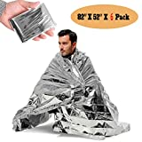 [6 Pack] Thermal Emergency Blanket,Emergency/Survival Blanket,Natural Disasters Equipment, Retain Body Heat, Keeps You Warm