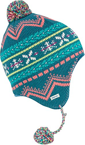 Burton Youth Girls Cocoa Earflap Beanie, Jaded, One Size ()