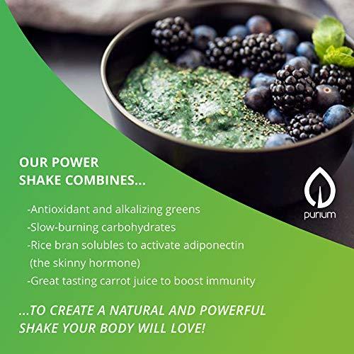 Purium Power Shake - Apple Berry Flavor - 1065 grams - Vegan Meal Replacement Powder, Protein, Vitamins & Minerals - Certified USDA Organic, Gluten Free, Kosher - 30 Servings by Purium (Image #5)