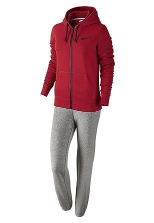 Nike chándal Club ft 645428 gym red/dk grey heather/black 44 ...