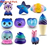 Toys : WATINC Random 3Pcs Jumbo Starry Squishy, Kawaii Cream Scented Slow Rising Squishy for Kid Toy, Lovely Toy,Stress Relief Toy,Decorations Toy Gift Fun