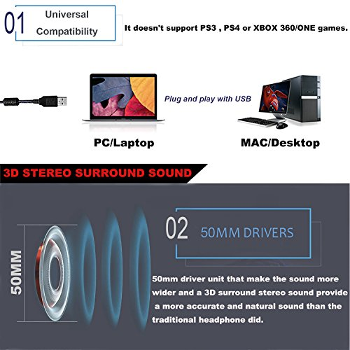 51I1tKlo 3L - PC-Gaming-Headset-with-Mic-Virtual-71-Surround-Stereo-Sound-Headphone-50MM-Loudhailer-Gaming-Headphones-with-LED-Light-Over-Ear-USB-Headsets-for-PC-Mac-Laptop-Gamer