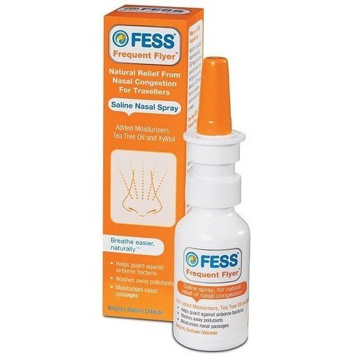 FESS Frequent Flyer Saline Nasal Spray 30ml (6 Pack) by F.E.S.S.