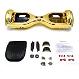 Shinymod 6.5 inch Self Balance Scooter Case Chrome Color Replacement Outer Shell Cover for 6.5'' Two Wheel Smart Self Balancing Electric Scooter (Case only, No Scooter)(Gold)