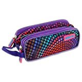 Premier Stationery''Dots'' Campus Twin Zip Pencil Case