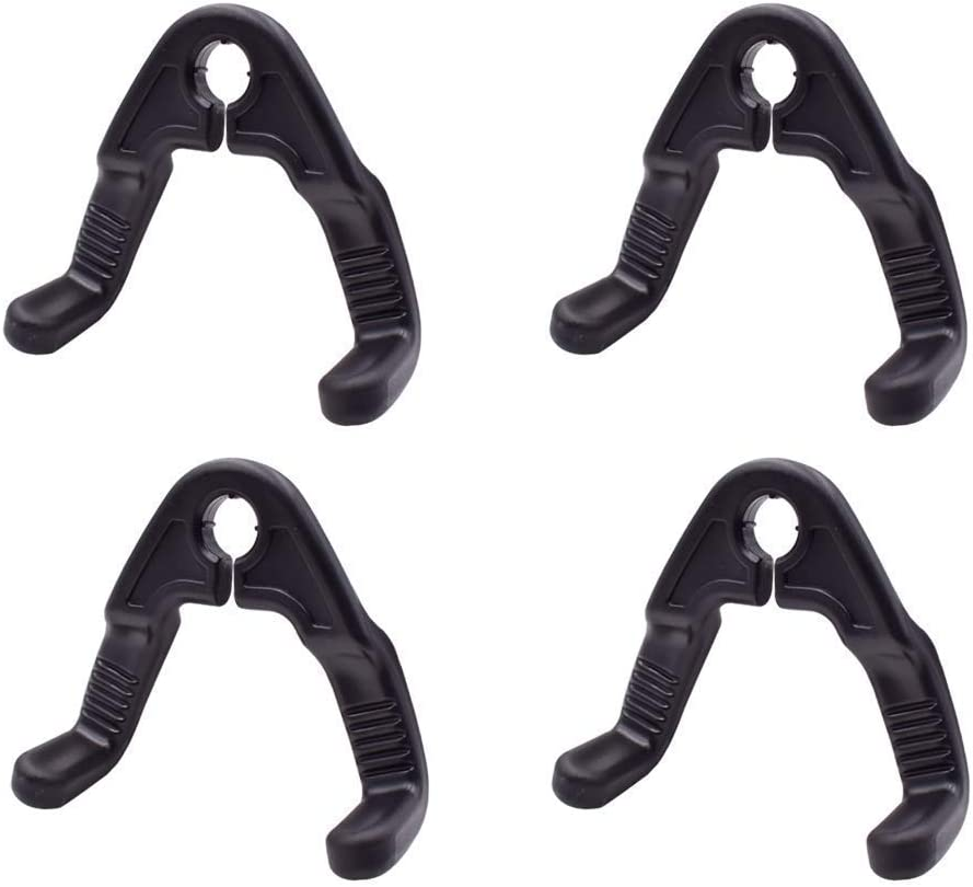 viewm 4 Pcs Car Hooks Headrest Hangers for Purse Grocery Bags Handbag to Keep Them from Sliding Around While Driving Black 4 pcs