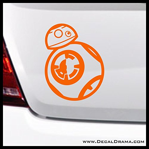Baby Droid BB-8 Chibi SMALL Vinyl Decal | Star Wars Skywalker Vader Jedi Force Rebel Alliance Galactic Empire | Cars Trucks Vans Laptops Windows Cups Tumblers Mugs | Made in the USA
