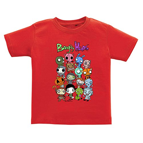 Boogily Heads Group Shot Tee by Gus Fink, Toddler (Boys & Girls) 100% Cotton Short Sleeve (5T, (Gus Fink Boogily Heads)