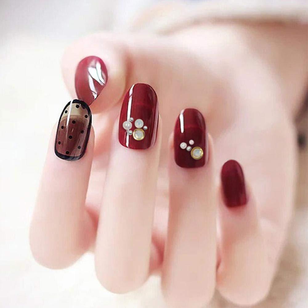 Pawaca Nail Art Pincel de punto, doble cabeza para uñas ...