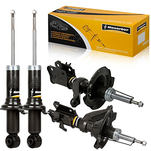 Maxorber Shocks Struts Front Rear Left Right Absorber Kit Compatible with Honda Civic 2001 2002 Replacement for Acura EL 2001 2002 2003 Shock Absorber 331008 331009 341311 71433 71434 ()