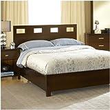 Modus Furniture RV26F7 Riva Platform Bed, King, Chocolate Brown