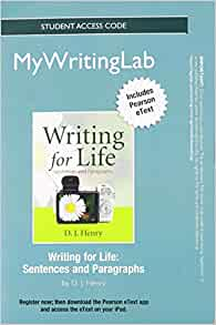 writing for life paragraphs and essays by d j henry Writing for life: paragraphs and essays is part of a two-book acclaimed textbook author dj henry is a veteran teacher with such as life writing.