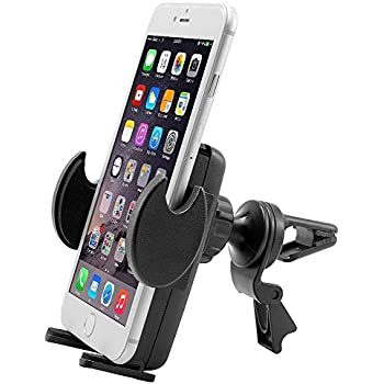 Car Mount, Air Vent Universal Car Holder for Motorola Droid Maxx 2, Turbo 2, Moto X, X4, G, E, Pure, G4 and Z Force w/ Anti-Vibration Flexible Swivel Cradle (use with or without case)