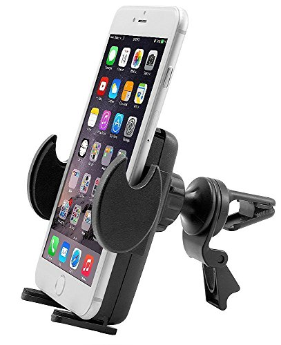 Price comparison product image Car Mount, Air Vent Universal Car Holder for Motorola Droid Maxx 2, Turbo 2, Moto X, X4, G, E, Pure, G4 and Z Force w/ Anti-Vibration Flexible Swivel Cradle (use with or without case)