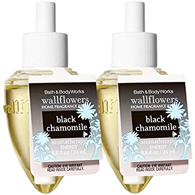 Bath and Body Works Wallflowers Home Fragrance Refill 2-Pack Aromatherapy (Black Chamomile, Relax)