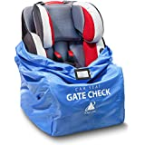 Car Seat Travel Bag – Durable, Water-Resistant Gate Check Bag with Adjustable Straps – Protector Traveling Bag Cover Carrier Must-Have Baby Travel Accessories for Airplanes and Trains by AMT Pro Blue