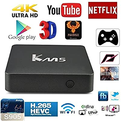 [New Arrival]GULEEK K1 PLUS KODI Media Center Android Tv Box Amlogic S905 Quad Core Streaming media player with addons fully loaded for live TV & Movies