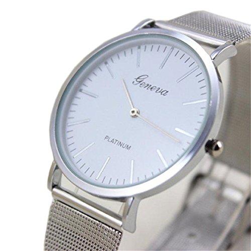 Vovotrade HOT Damenmode -Uhr-Edelstahl-Band-analoge Quarz-Armbanduhr(Silber)