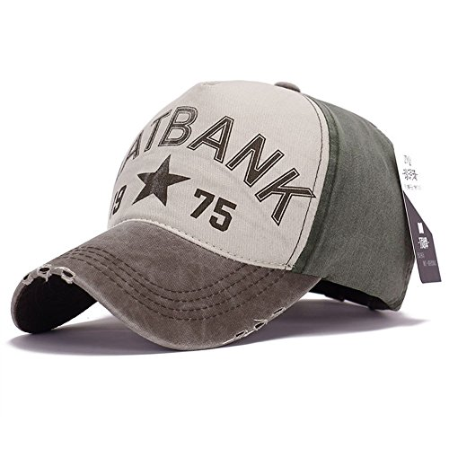 Top Shop US Unisex Cool Plain Letter Sports Hat Solid Color baseball Cap,brown-gray