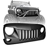American 4wheel Jeep Wrangler Grill Grille Gladiator Matte Black Eagle Eyes Jeep Wrangler Accessories JK JKU & Unlimited Rubicon SaharaSports,2007-2018