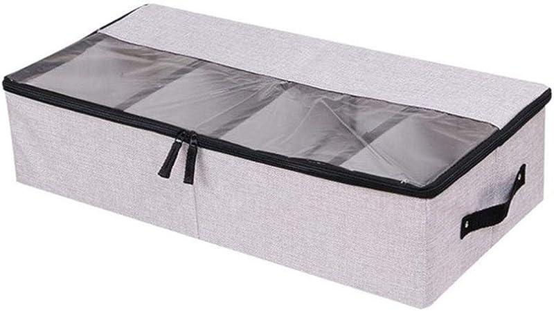 IVHJLP Cajas de almacenaje Caja de almacenamiento plegable para los zapatos Armario Armario Organizador Calcetín Sujetador Ropa interior de algodón Bolsa de almacenamiento debajo de la cama Organizado: Amazon.es: Hogar