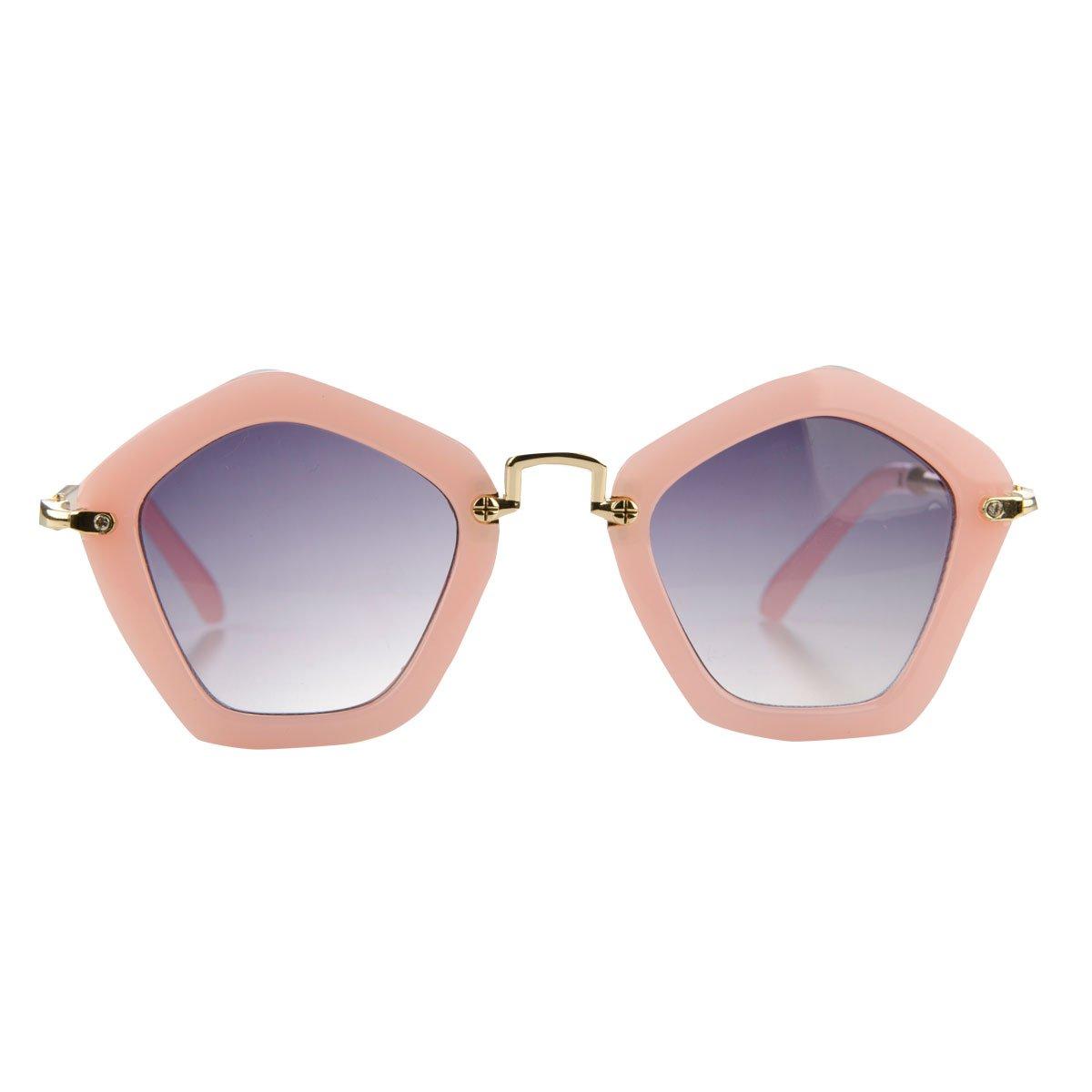 Amazon.com: Little Girl Rosa de Pentágono Frame UV400 gafas ...